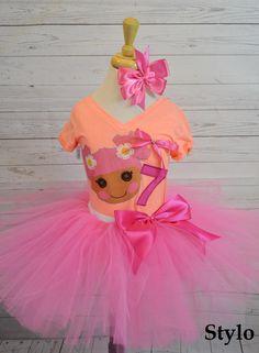 Birthday Tutu Set order or follow us on Facebook ; www.facebook.com/... #birthday #pinktutu #lalaloopsy #styloboutique