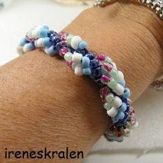 Armband Dutch Spiral Homemade Rocailles van irenesKralen op DaWanda.com