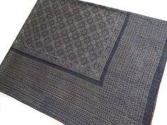 handmade ajrakh kantha bedcover fine stitch ajrakh kantha blanket vegetable dye kantha bedspread on Etsy, $119.00