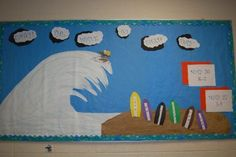 surfboard classroom decorations - Google Search