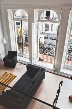 living room, french windows