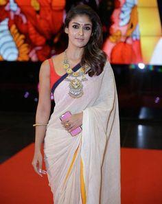 Nayanthara Photos In White Saree At SIIMA Awards