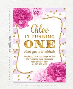 1st birthday invitations for girls purple by hueinvitations