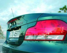 BMW 1er 125i Rückleuchte. Mehr Bilder unter http://www.kfz.net/autobilder/bmw/1er/