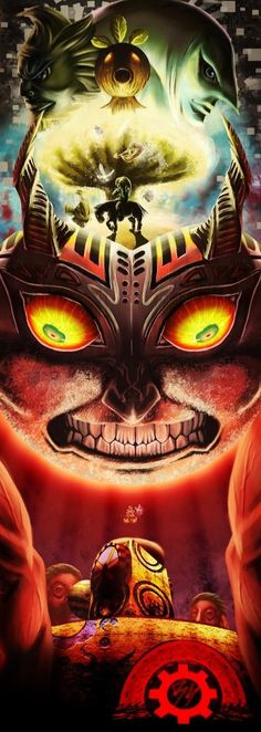 Majora's Mask/Mujura no Kamen. This game is pretty nightmare fuel-ish (without BEN DROWNED), just like EarthBound is with Giygas/Giegue. #Majora #TheLegendOfZelda #Nintendo