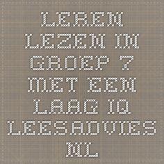 leren lezen in groep 7 met een laag iq  leesadvies.nl