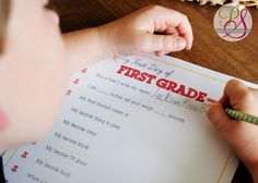 Free printable, first day of school interview keepsake