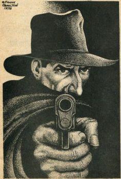 THE SHADOW by Frank Hamilton, 1976 Comic Books Art, Book Art, Pulp Art, Pulp Fiction, Conan, Savage, Detective, Hamilton, Weed