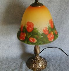 Accent Lamp  Rose Design by SashasCollectibles on Etsy