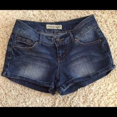 Super Cute Jean Shorts PARIS BLUES Jean Shorts in dark denim. Cute and trendy shorts in excellent condition. You will find that these shorts are a great length--not too short and not too long! Paris Blues Shorts Jean Shorts