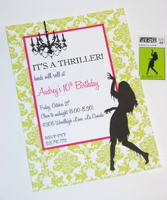 Printable Invitations- Thriller Halloween Party by Bloom. $14.00, via Etsy.