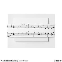 White Sheet Music In
