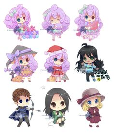 chibi bunch by runawaywithyou.deviantart.com on @deviantART