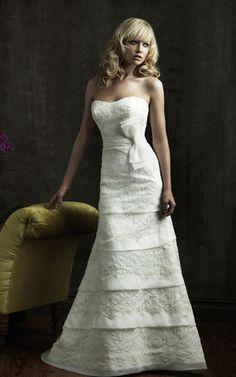 grande immagine 1 Abito da Sposa convenzionale moda A Terra Elegante con Applique