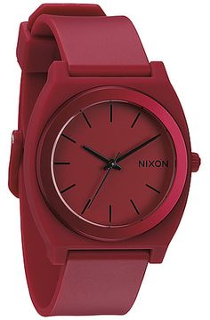 The Time Teller P Watch in Dark Red Ano by Nixon