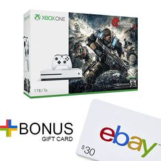 Xbox One S 1TB Console – Gears of War 4 Bundle+$30 eBay Gift Card with purchase  http://searchpromocodes.club/xbox-one-s-1tb-console-gears-of-war-4-bundle30-ebay-gift-card-with-purchase/