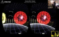 Oculus Rift + Kinect - Audio visual instrument a001