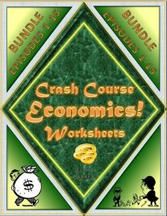 """Now updated with the most recently released episodes! Episodes Crash Course Economics Worksheets can easily double as Crash Course Economics Quizzes. Includes both time-stamped and """"questions only"""" versions of materials along with full answer keys! Economic Systems, Teaching Materials, Teaching Ideas, Teaching Jobs, Teaching Resources, Student Engagement, High School Students, Fun Learning"""