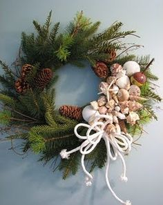 Great way to incorporate all of our seashells into holiday decor.