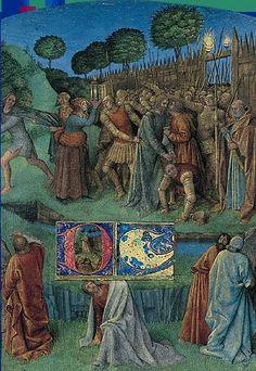 Jean Fouquet, Livre d'heures d'Étienne Chevalier, entre 1452 et 1460. Chantilly, musée Condé.  L'Arrestation de Jésus
