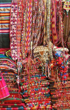 Colorful market . La Paz Bolivia