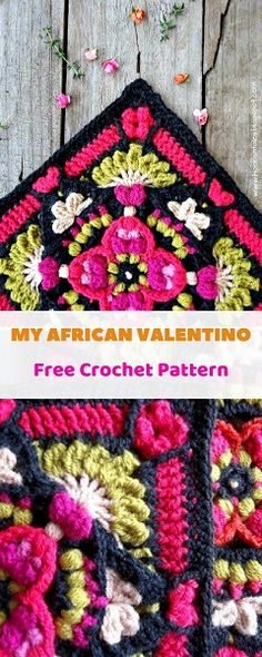 My African Valentino can be used as a square for Afghan and blankets or a eye-catching cushion cover, a frontispiece for a bag, a table runner, or simply framed to make a unique wall-hanging. #freecrochetpattern #freecrochet #crochet3 #easycrochet #patterncrochet #crochettricks #crochetitems #crocheton #thingstocrochet