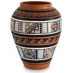 Furniture, Home Decor, Rugs, Unique Gifts Pottery Painting Designs, Paint Designs, Pottery Art, African Pottery, Ceramic Pitcher, Vase Fillers, Inca, Native Art, Tropical Flowers