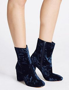The Wade Velvet Ankle Boots