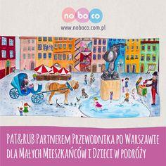 """PAT & RUB w gronie partnerów wspierających projekt """"Przewodnika po Warszawie"""" dla dzieci. """"Przewodnik po Warszawie dla małych mieszkańców i dzieci w podróży"""" został stworzony, by pokazać najmłodszym i ich rodzicom najciekawsze miejsca w stolicy. Książka równocześnie zachęca, aby rodzinnie wyjść z domu i wspólnie odkrywać otaczający świat."""