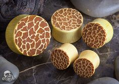 Jackfruit wood giraffe skin plugs