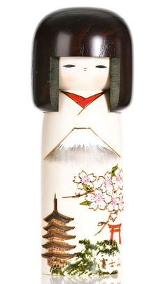 Mount Fuji Kokeshi doll.