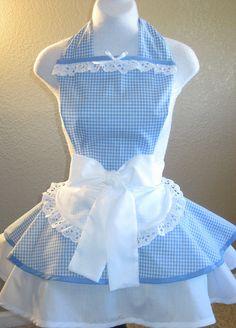 Wizard of Oz Dorothy Costume Apron Replica by sjcnace4 on Etsy