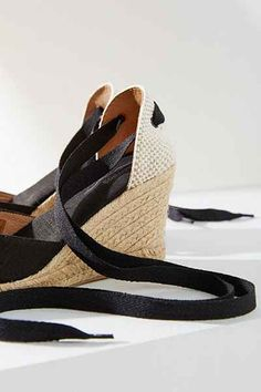Soludos Tall Linen Wedge