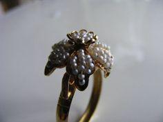 Georgian natural seed pearl ring