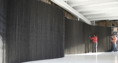 molostore! black fabric softwall @ @6' high goes up to 14' long, @ $2350