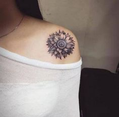 80 Beautiful Sunflower Tattoo Designs with Meanings Form Tattoo, 4 Tattoo, Tattoo Trend, Shape Tattoo, Tattoo Girls, Tattoo Designs For Girls, Girl Tattoos, Tattoos For Guys, Tatoos