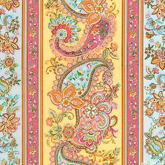 Soleil - Happy Paisley Stripe - Butter Yellow