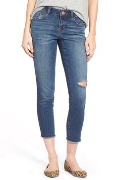 2015 $48  Jolt Crop Raw Hem Skinny Jeans