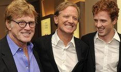 Robert, James and Dylan Redford Redford attend the New York premiere of The Big Picture: Rethinking Dyslexia. Photograph: Stephen Lovekin/Ge...