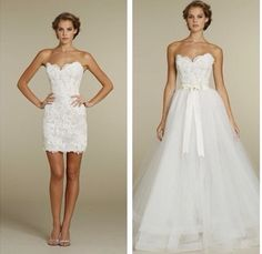 Convertible dress for wedding and reception