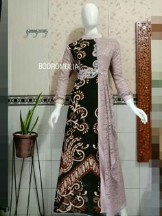 Model Dress Kebaya, Model Dress Batik, Dress Brukat, Hijab Dress Party, Muslim Fashion, Hijab Fashion, Fashion Dresses, Women's Fashion, Batik Long Dress