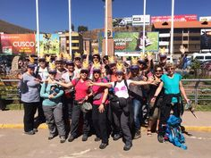 The fabulous Peru team on top of the world and looking good in Cuzco, before their Inca Trail adventure.