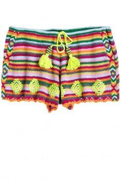 Shinella Hand Crochet Cashmere Short | Calypso St. Barth