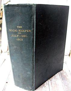 Vintage book bound business man's magazine by LittleBeachDesigns, $45.00