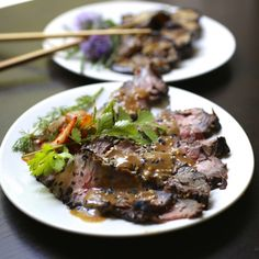 Asian-Marinated Grilled Flank Steak - repinned from Desdemonia Smith's pin to Yummy Recipes from Cute Recipes