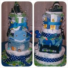 Baby Boy Diaper Cake idea