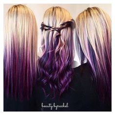 Hair color tips, fun hair color, purple hair tips, hair colours, Violet Hair Colors, Hair Color Purple, Hair Color And Cut, Cool Hair Color, Blonde Hair With Purple Tips, Hair Colours, Burgundy Hair, Hair Dye Tips, Hair Colors