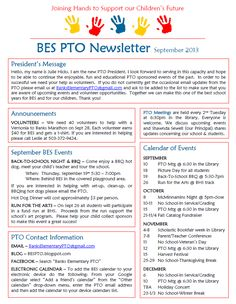 Banks Elementary PTO: September Newsletter