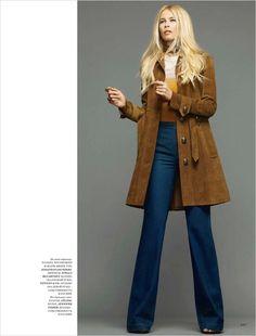 Claudia Schiffer for Harper's Bazaar Russia March 2015 by Nico