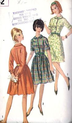 1960s Misses Dress with Two Skirts